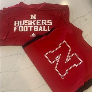 Husker men short sleeve top and muscle tank